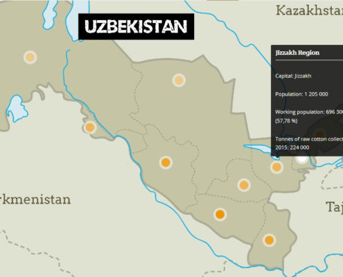 Jizzakh is one of Uzbekistan's cotton producing regions